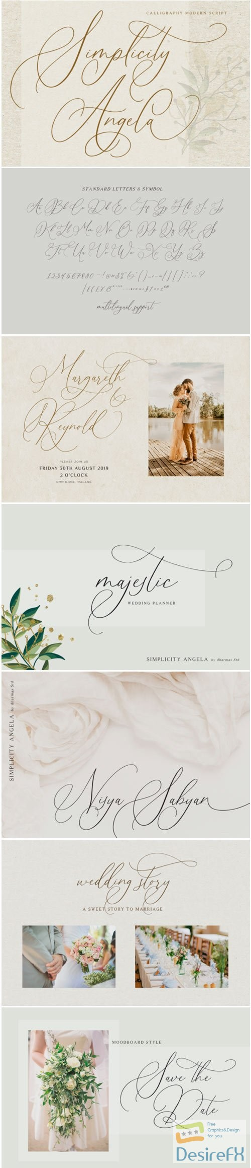 fonts - Simplicity Angela Font