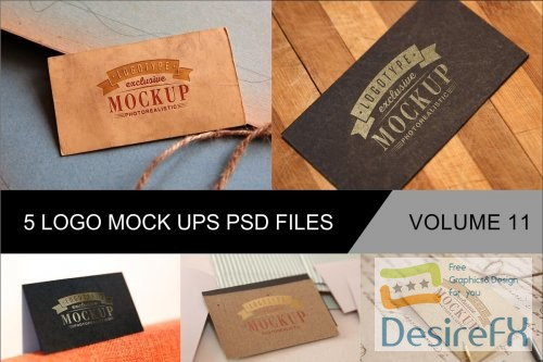 mock-up - Photo Realistic Mock-ups Set of 5 V11 - 4038960