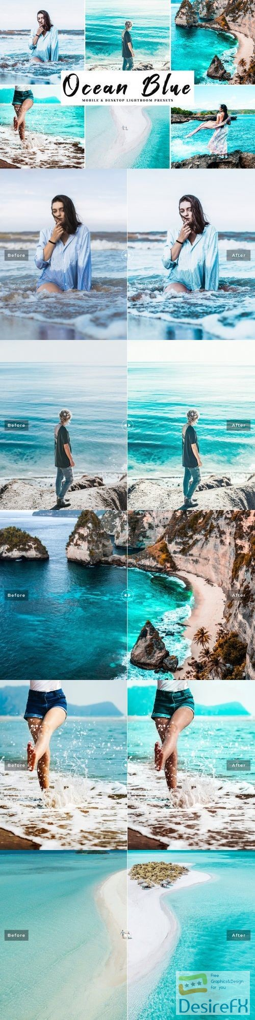 photoshop - Ocean Blue Lightroom Presets Pack 4026118