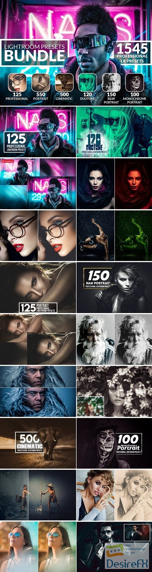 InkyDeals 1500+ Professional Lightroom Presets Bundle