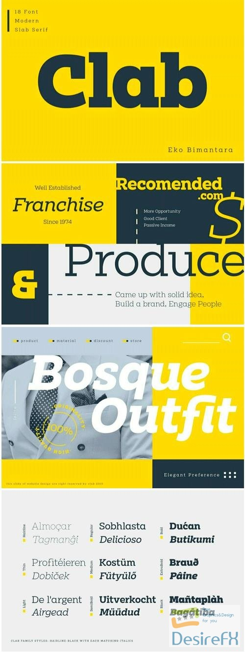 fonts - Clab Font Family