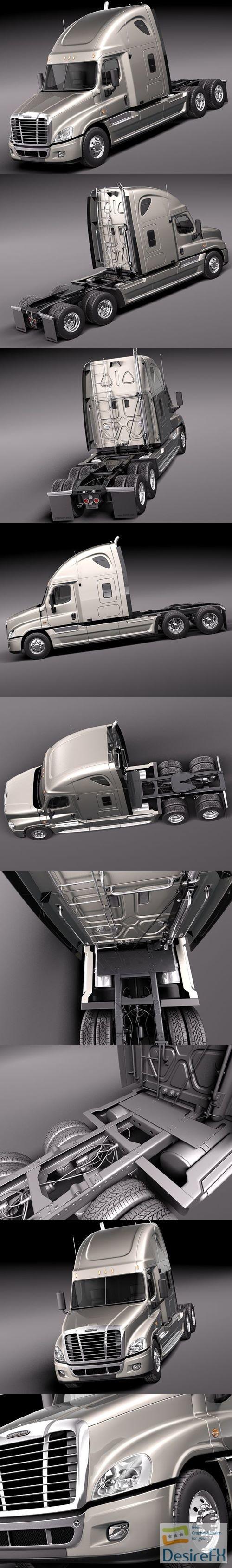 3d-models - Freightliner Cascadia 2011 3D Model