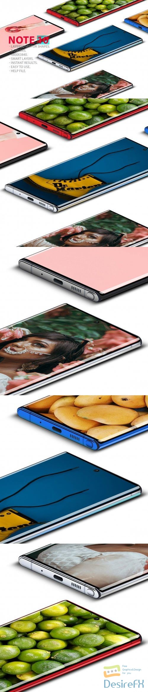 Note 10 Layered PSD MockUps