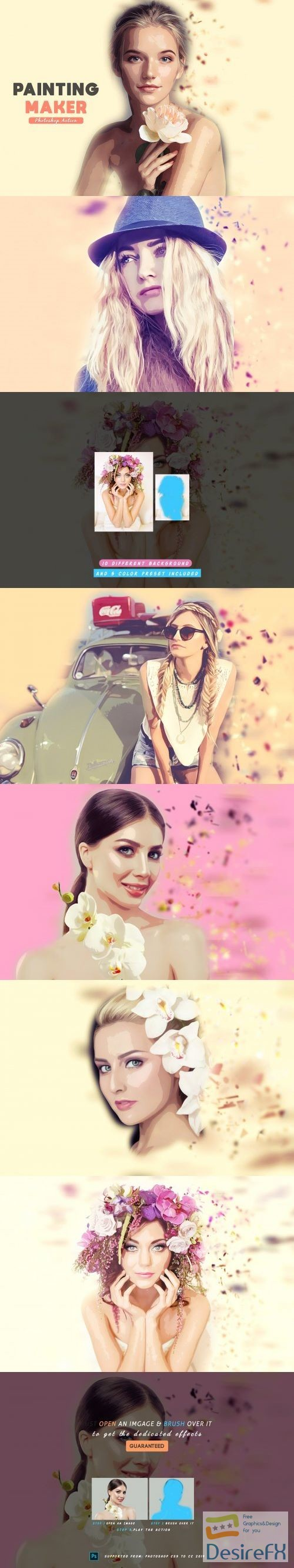 Painting Maker Photoshop Action 3999758