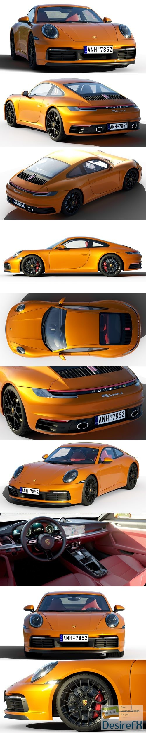 3d-models - Porsche 911 Carrera S 2019 3D Model