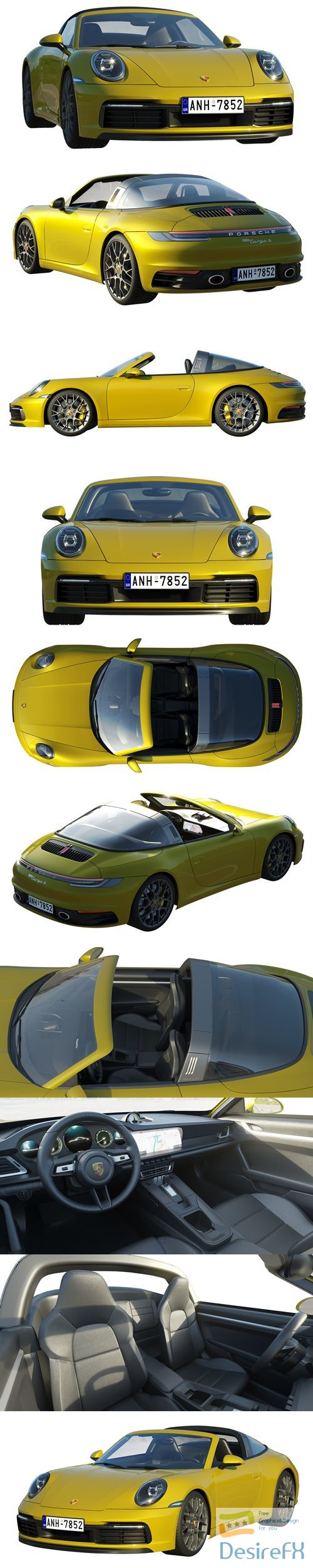 3d-models - Porsche 911 Targa 2019 3D Model