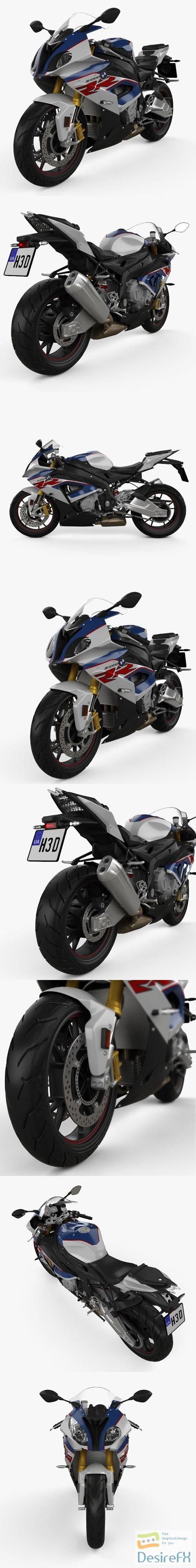 BMW S1000RR 2018 3D Model