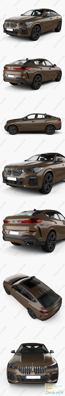 3d-models - BMW X6 M sport 2020 3D Model
