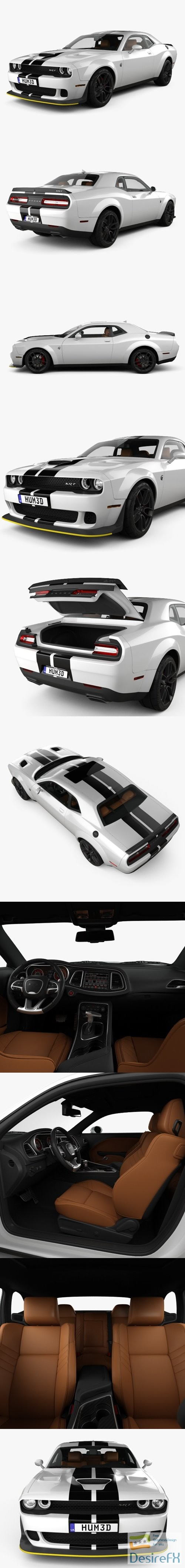 3d-models - Dodge Challenger SRT Hellcat WideBody with HQ interior 2018 3D Model