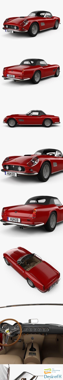 3d-models - Ferrari 250 GT California SWB Spyder with HQ interior 1958 3D Model