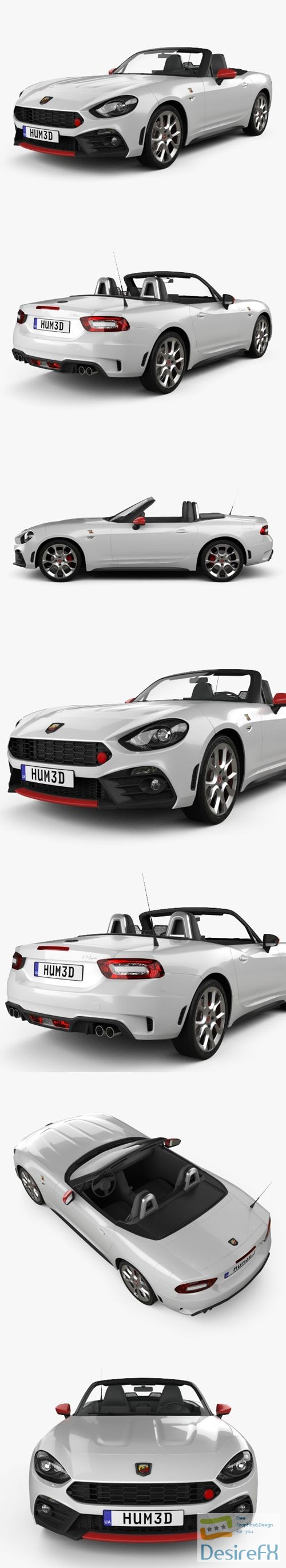 3d-models - Fiat 124 Spider Abarth 2017 3D Model