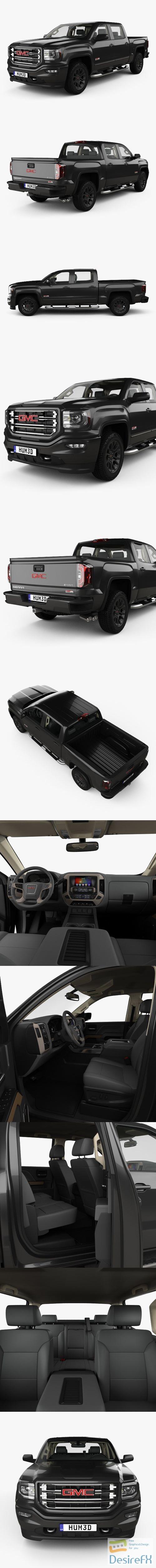3d-models - GMC Sierra 1500 Crew Cab Short Box AllTerrain with HQ interior 2017 3D Model