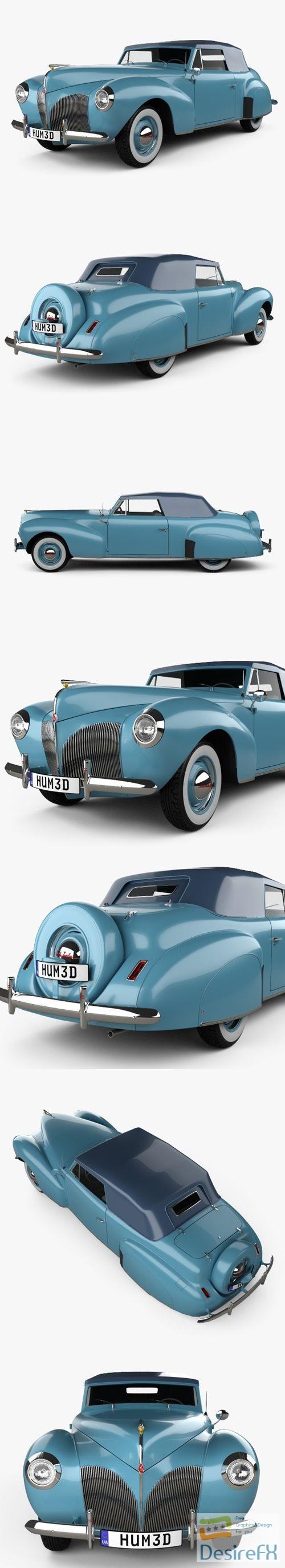 3d-models - Lincoln Zephyr Continental Cabriolet 1939 3D Model
