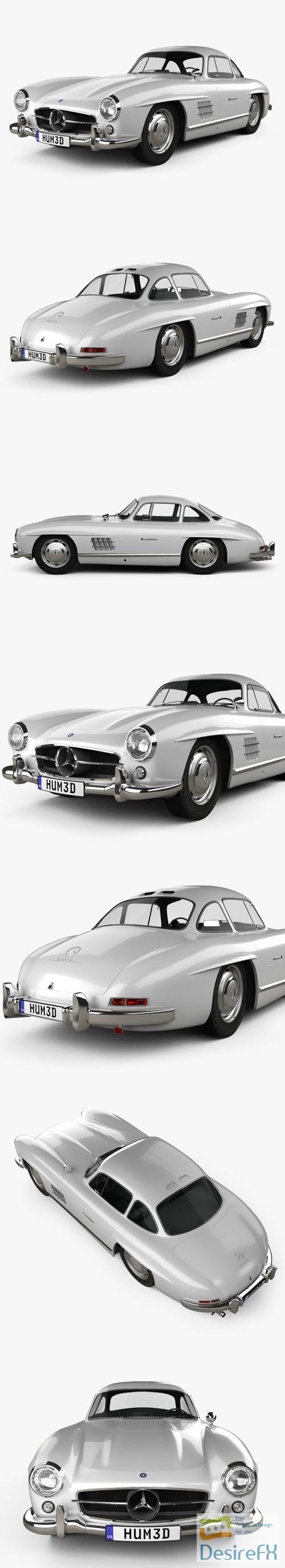 3d-models - Mercedes-Benz 300 SL Gullwing 1954 3D Model