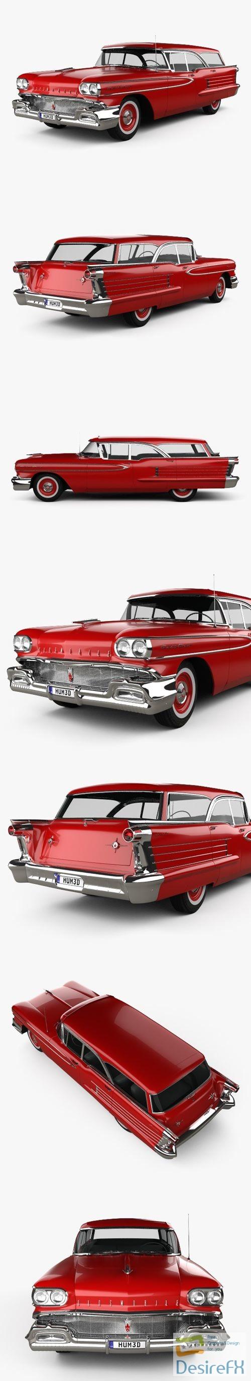 3d-models - Oldsmobile Dynamic 88 Fiesta Holiday 1958 3D Model