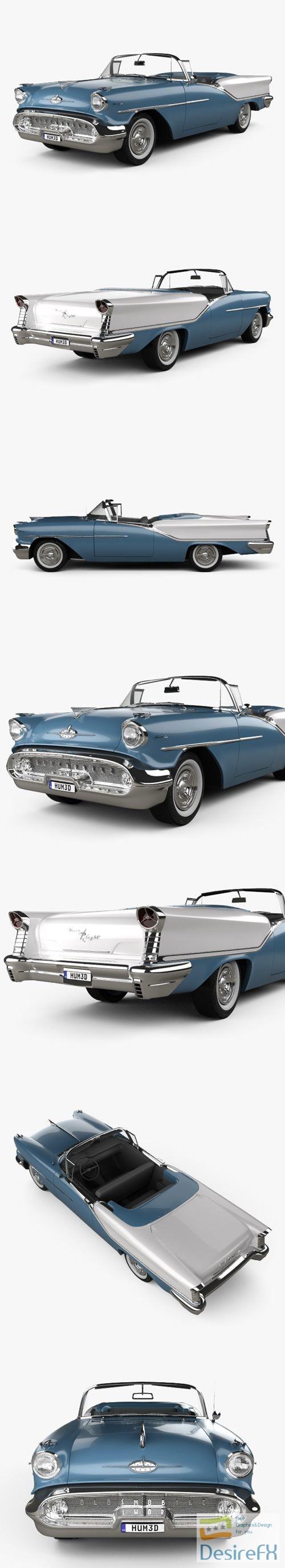 Oldsmobile Starfire 98 Convertible 1957 3D Model