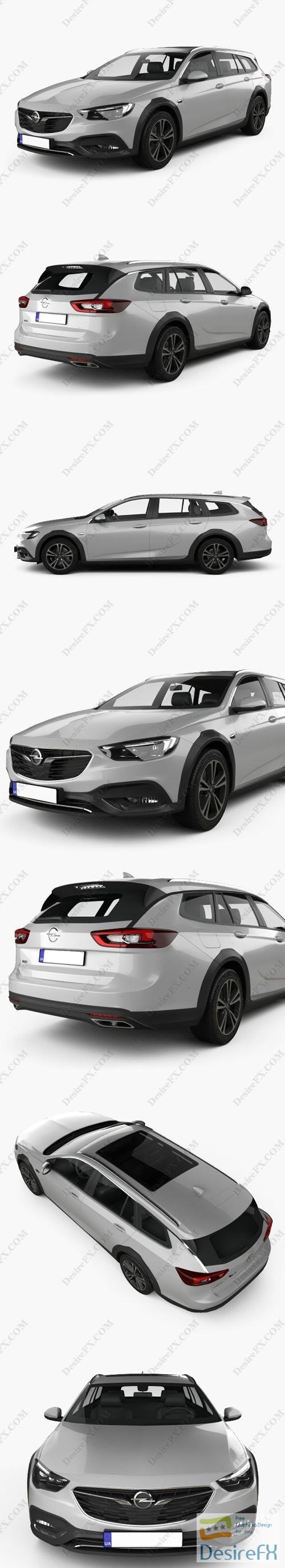 Opel Insignia Country Tourer 2017 3D Model
