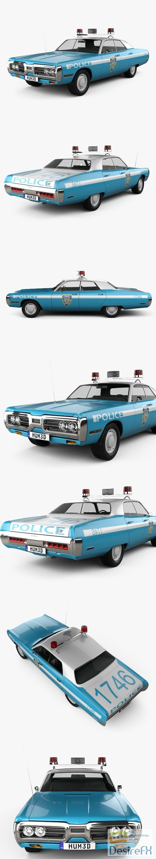 3d-models - Plymouth Fury Police 1972 3D Model