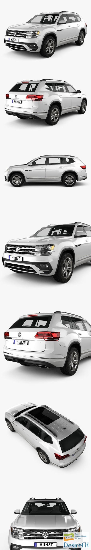3d-models - Volkswagen Atlas R-Line 2017 3D Model