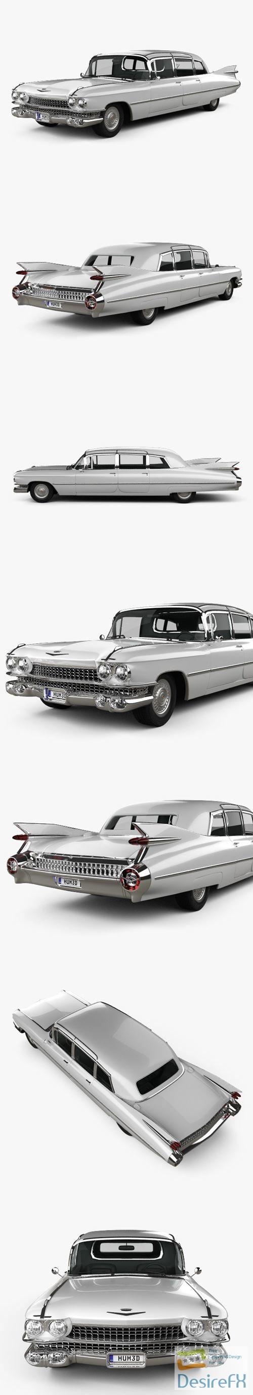 3d-models - Cadillac Fleetwood 75 Miller-Meteor Hearse 1959 3D Model