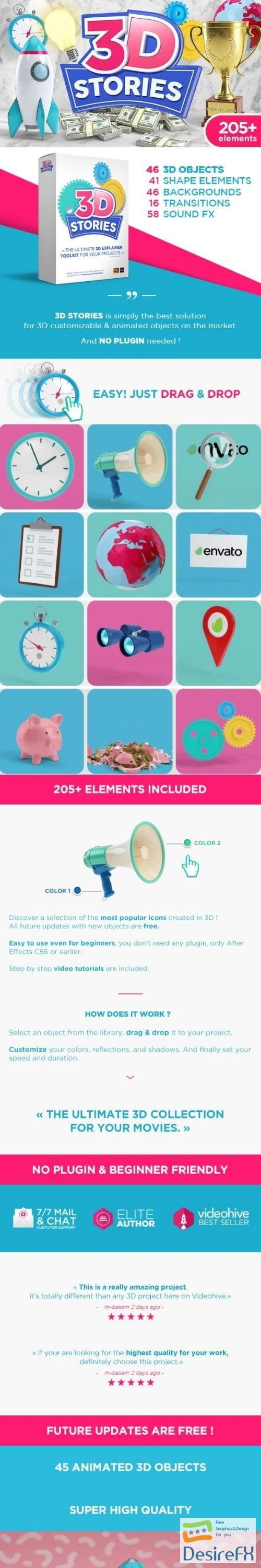 after-effects-projects - Videohive 3D Animated Icons Toolkit V.2 21562016