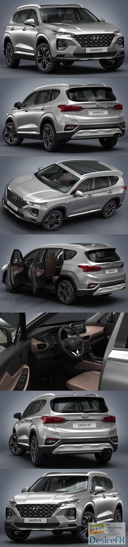 3d-models - Hyundai Santa Fe 2019 3D Model