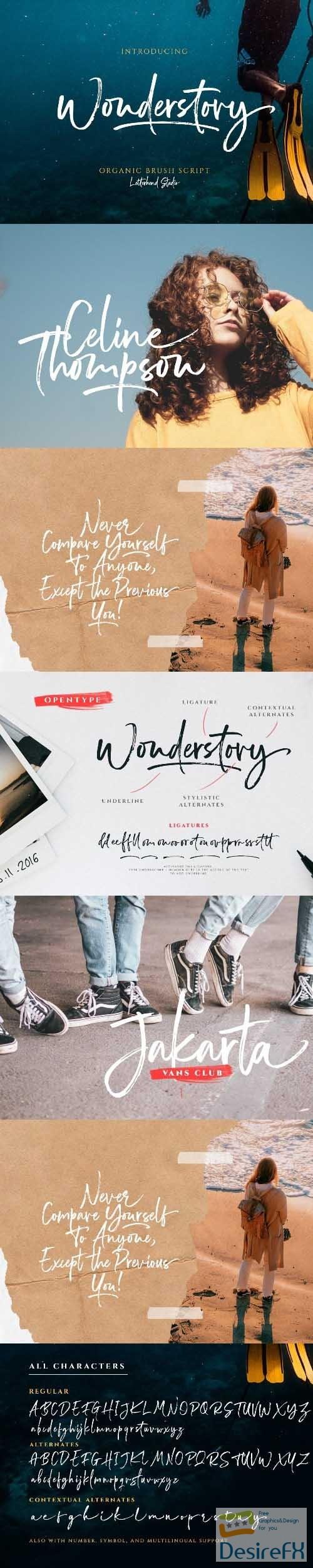 fonts - Wonderstory - Brush Script