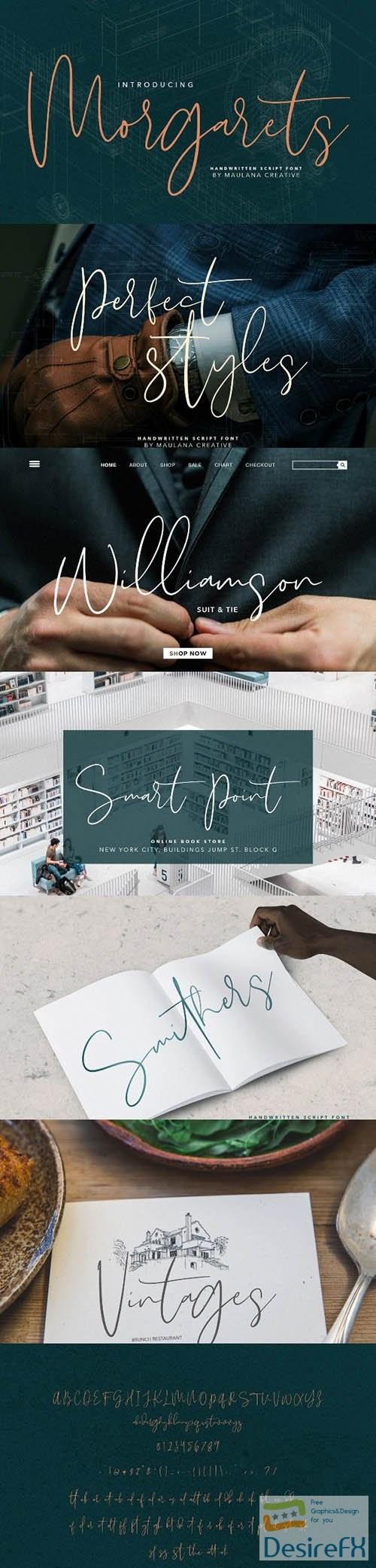 fonts - Morgarets Script Font