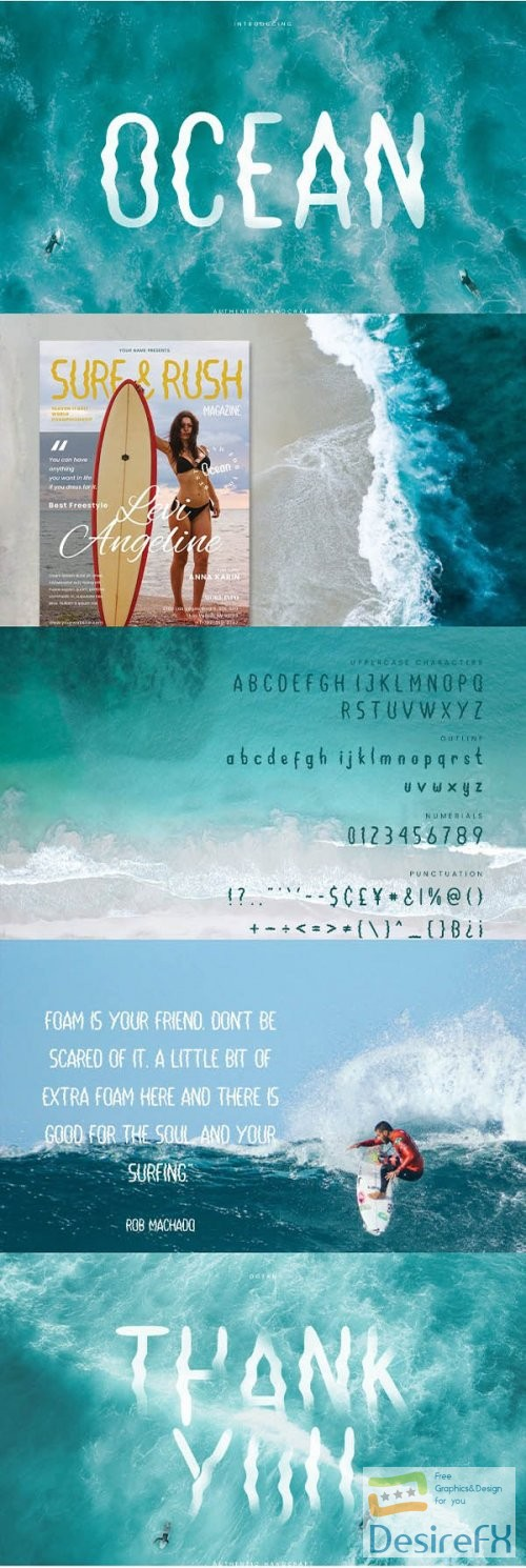Ocean - Hand Writing Summer Font