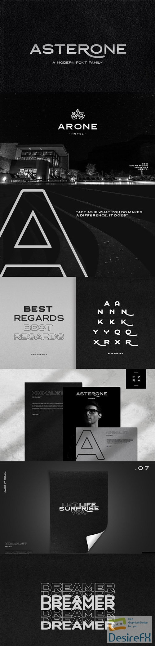 fonts - Asterone - Modern Font Family