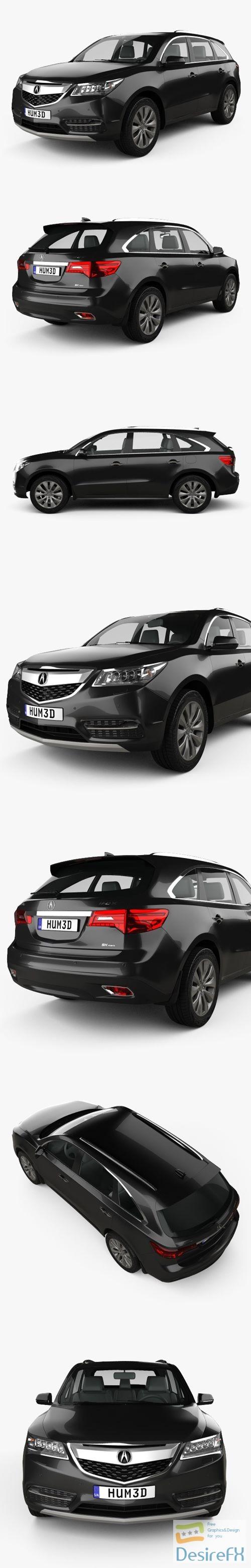 3d-models - Acura MDX 2014 3D Model