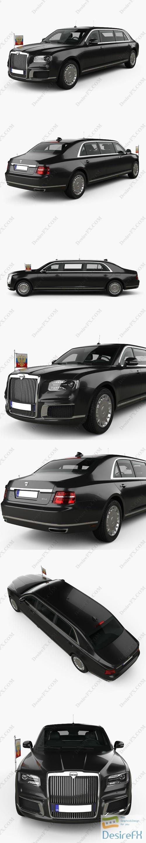 Aurus Senat Presidential Limousine 2018 3D Model