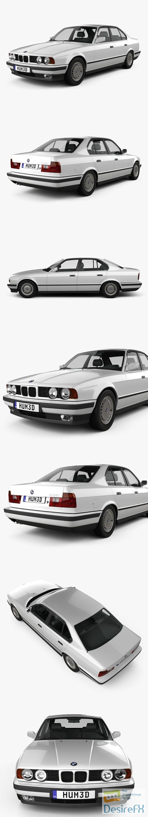 3d-models - BMW 5 Series sedan (E34) 1993 3D Model