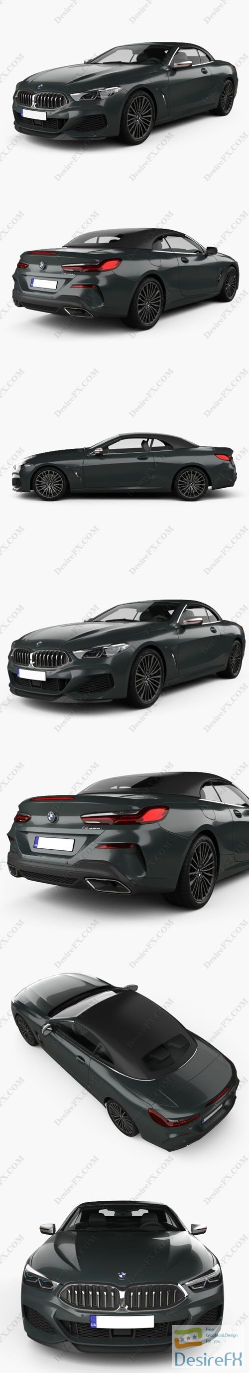 BMW 8-Series G14 convertible M850i 2019 3D Model