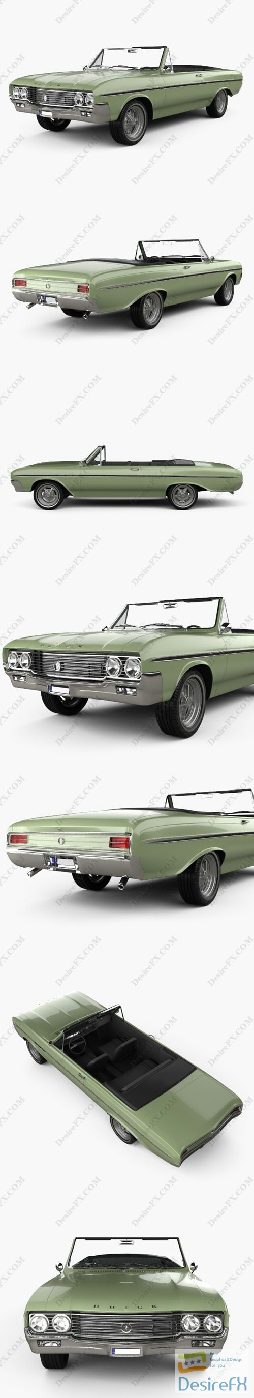 3d-models - Buick Skylark convertible 1964 3D Model