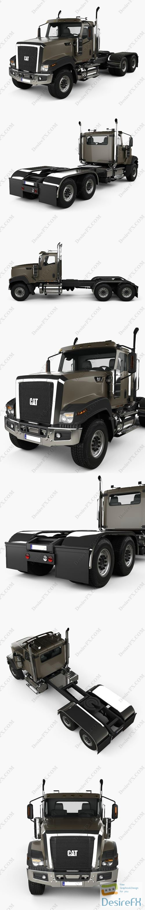 Caterpillar CT 680 Tractor Truck 2015 3D Model