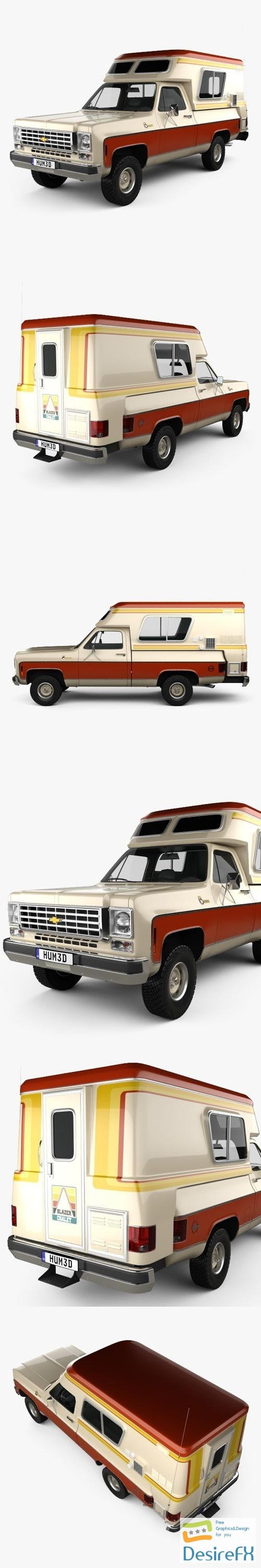 3d-models - Chevrolet Blazer Chalet 1976 3D Model