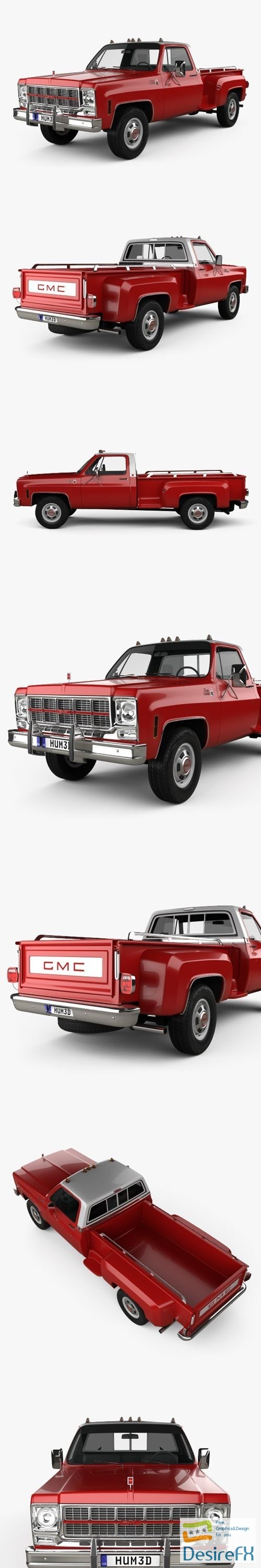 3d-models - GMC Sierra Grande 454 Pickup 1979 3D Model