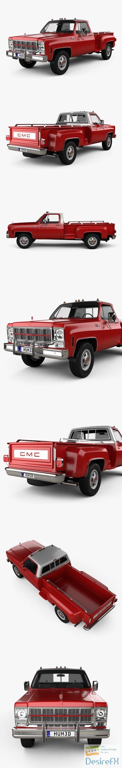 3d-models - GMC Sierra Grande 454 Pickup 1979 3D Model