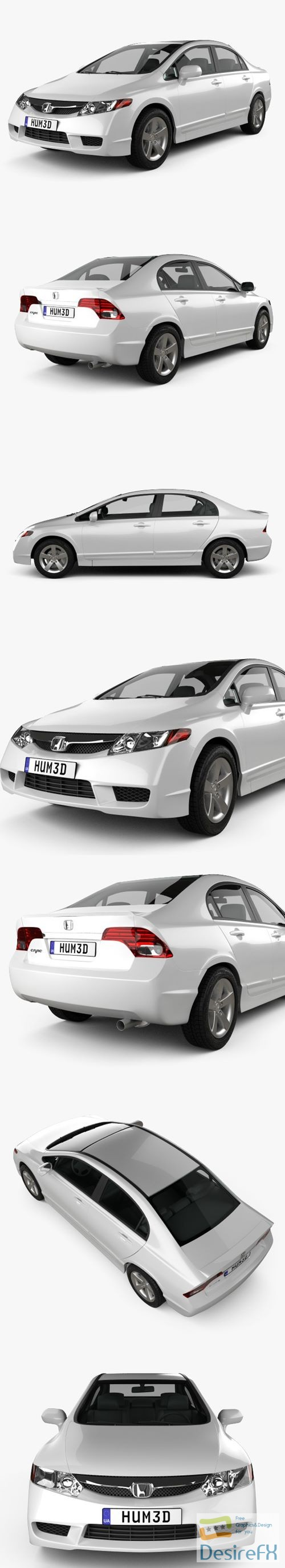 3d-models - Honda Civic Sedan 2009 3D Model