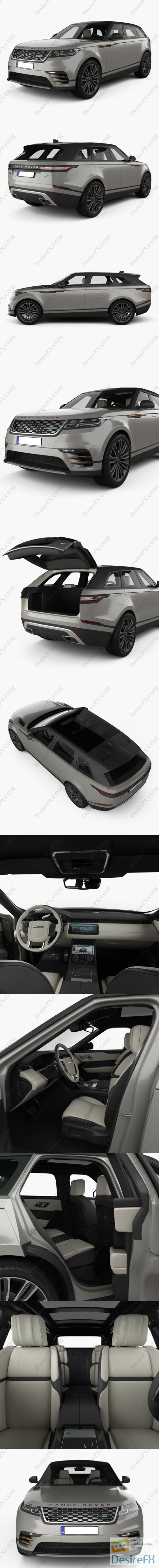 3d-models - Land Rover Range Rover Velar First edition with HQ interior 2018 3D Model