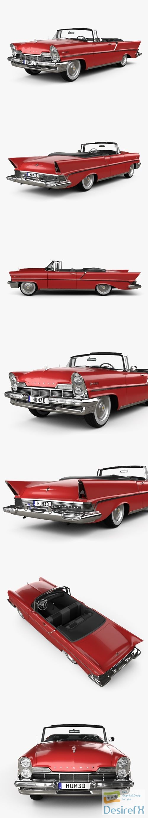 3d-models - Lincoln Premiere Convertible 1957 3D Model
