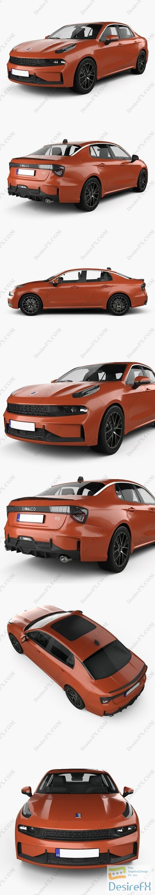 3d-models - Lynk & Co 03 sedan 2018 3D Model