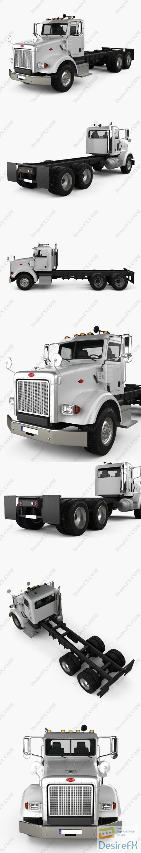 3d-models - Peterbilt 357 DayCab Chassis Truck 2006 3D Model