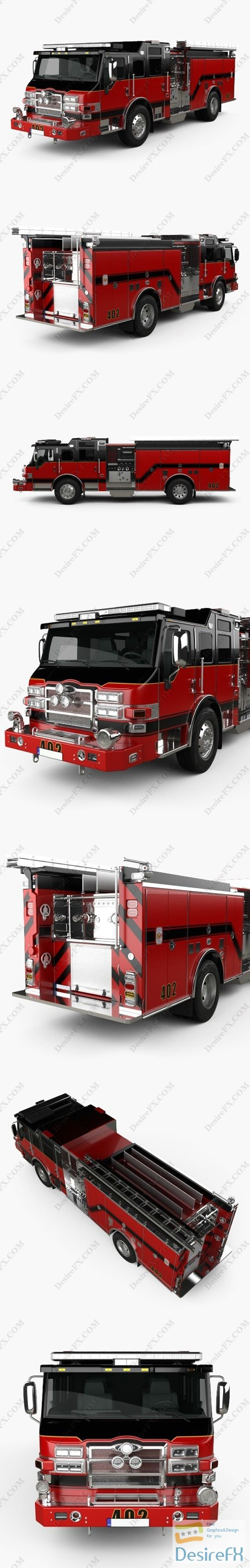 3d-models - Pierce E402 Pumper Fire Truck 2014 3D Model