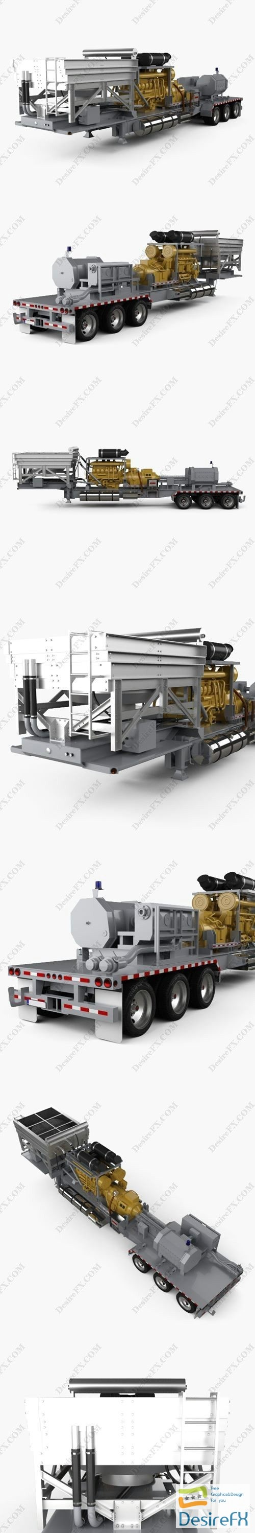 3d-models - Trailer Semi Caterpillar Fracturing Unit 2018 3D Model