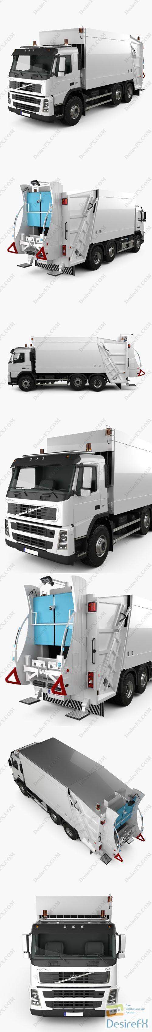 3d-models - Volvo FM Truck 6×2 Garbage 2010 3D Model