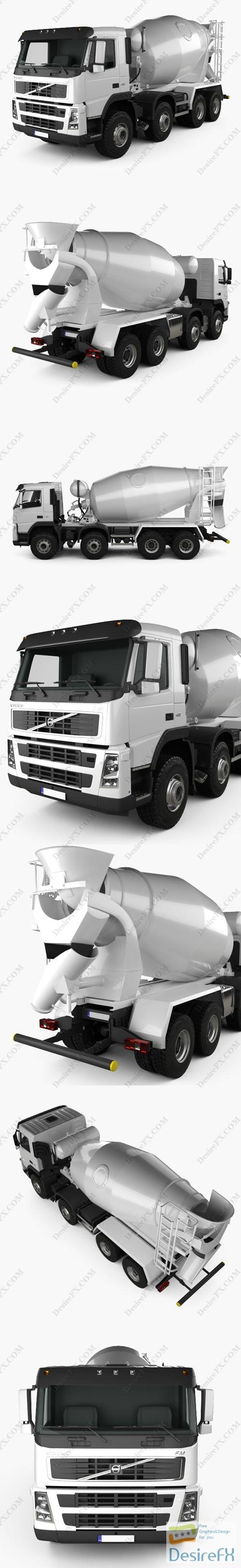 Volvo FM Truck 8x4 Mixer 2010 3D Model