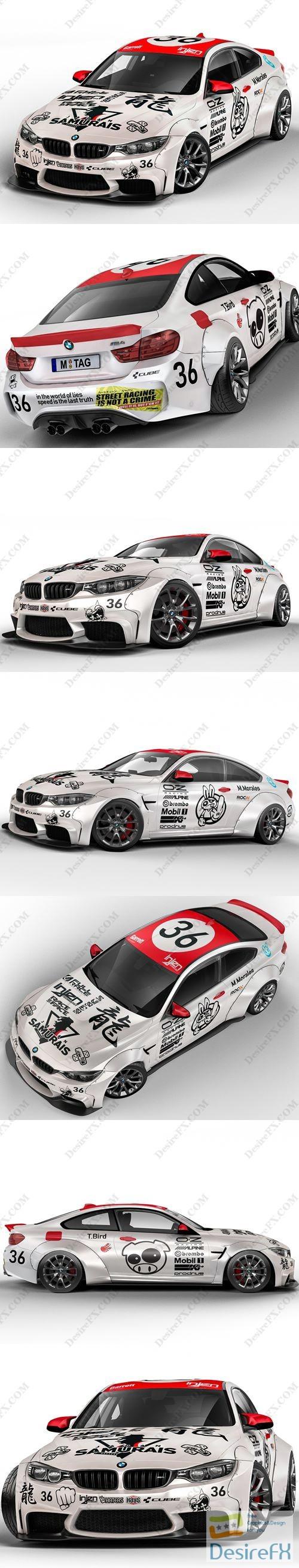 BMW M4 Street Race Edition 3D Model