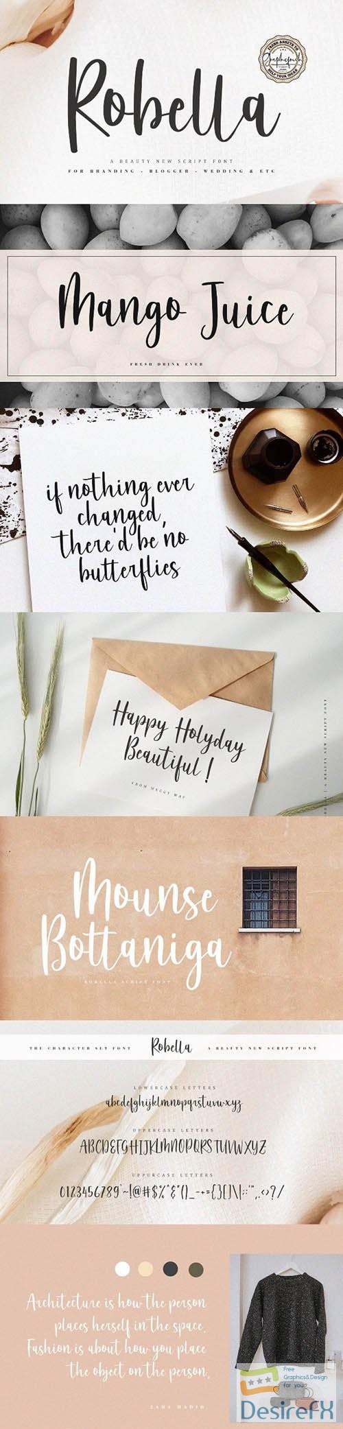fonts - Robella - A Beauty Script Font